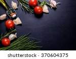 set of ingredients on... | Shutterstock . vector #370604375