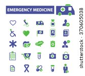 emergency medicine  icons ... | Shutterstock .eps vector #370605038