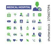 hospital  clinic  medicine ... | Shutterstock .eps vector #370607096