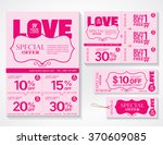 sale flyer  promotions coupon... | Shutterstock .eps vector #370609085