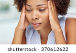 close up of african young woman ... | Shutterstock . vector #370612622