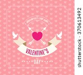 valentines day card. seamless... | Shutterstock .eps vector #370613492