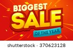 biggest sale banner. sale and...   Shutterstock .eps vector #370623128