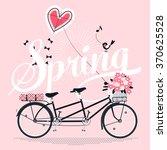 lovely spring illustration in... | Shutterstock .eps vector #370625528