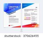business brochure  flyer and... | Shutterstock .eps vector #370626455