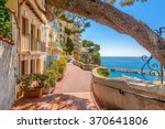 Street In Monaco Village In...