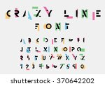color alphabetic fonts and... | Shutterstock .eps vector #370642202