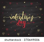 valentine's day text as... | Shutterstock .eps vector #370649006