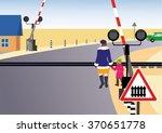 people go through the open... | Shutterstock .eps vector #370651778
