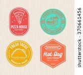 fast food  badges emblem logo... | Shutterstock .eps vector #370661456