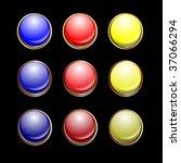 gold bronze buttons set | Shutterstock .eps vector #37066294