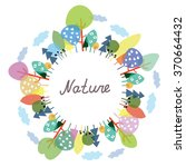 nature frame with trees and...   Shutterstock .eps vector #370664432