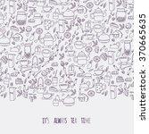cartoon outline vector template.... | Shutterstock .eps vector #370665635