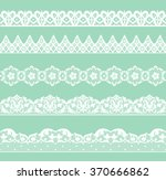set of white lace borders on... | Shutterstock . vector #370666862