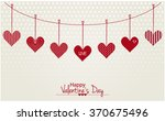 happy valentine's day card or... | Shutterstock .eps vector #370675496