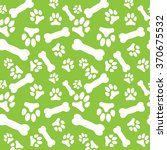 seamless pattern with white dog ... | Shutterstock .eps vector #370675532