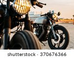 vintage custom motorcycle cafe... | Shutterstock . vector #370676366