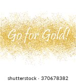 golden spray banner on white... | Shutterstock .eps vector #370678382