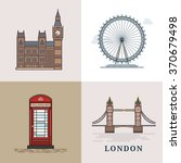 flat modern vector london  the... | Shutterstock .eps vector #370679498