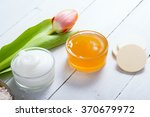 body lotion and orange facial... | Shutterstock . vector #370679972