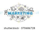 flat style  thin line art... | Shutterstock .eps vector #370686728