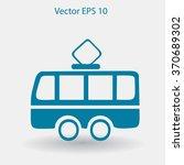 flat tram icon. vector | Shutterstock .eps vector #370689302