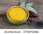 curry sause with red pepper and ... | Shutterstock . vector #370692686