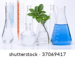seedling and chemical test tube.... | Shutterstock . vector #37069417