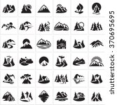 mountain icons set  hills ... | Shutterstock .eps vector #370695695