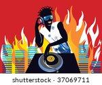 dance disc jockey | Shutterstock .eps vector #37069711