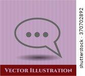speech bubble symbol | Shutterstock .eps vector #370702892