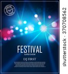 festival poster template with... | Shutterstock .eps vector #370708562