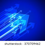 blue background vector arrows | Shutterstock .eps vector #370709462
