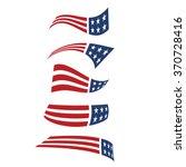 american flying flag logos.... | Shutterstock .eps vector #370728416