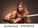 Beautiful Woman With Sword ....