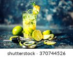 refreshment alcoholic cocktail... | Shutterstock . vector #370744526
