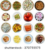 collage of different kinds of... | Shutterstock . vector #370755575
