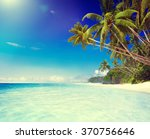 tropical paradise beach... | Shutterstock . vector #370756646