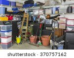 residential garage full of junk ... | Shutterstock . vector #370757162