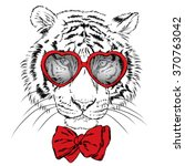 Vector Tiger Wearing Glasses...