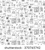 seamless background hand drawn... | Shutterstock .eps vector #370765742