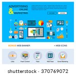 bright web banner template with ... | Shutterstock .eps vector #370769072
