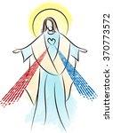 jesus christ sacred heart...   Shutterstock .eps vector #370773572