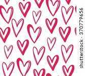 valentines day card with heart | Shutterstock .eps vector #370779656