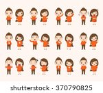 boy and girl emotion characters | Shutterstock .eps vector #370790825