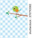 cute little bird vector   Shutterstock .eps vector #370792082