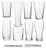collection of empty glasses for ... | Shutterstock . vector #370794902