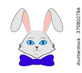 cartoon hare  vector... | Shutterstock .eps vector #370802786