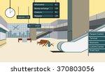 vector illustration hall airport | Shutterstock .eps vector #370803056