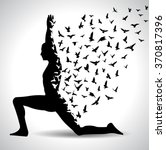 yoga day yoga infographic with...   Shutterstock .eps vector #370817396